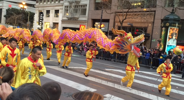 One of the dragons in SF's Chinese New Year Parade